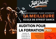 juste debout school auditions octobre 2016