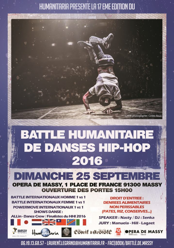 Battle humanitaire de danses hip hop 2016