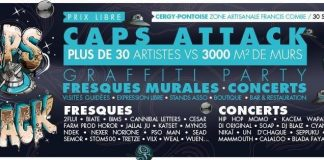 Festival caps attack cergy graffiti hip hop